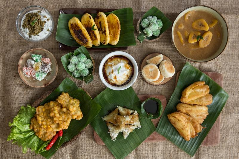 Various of indonesian food royalty free stock image