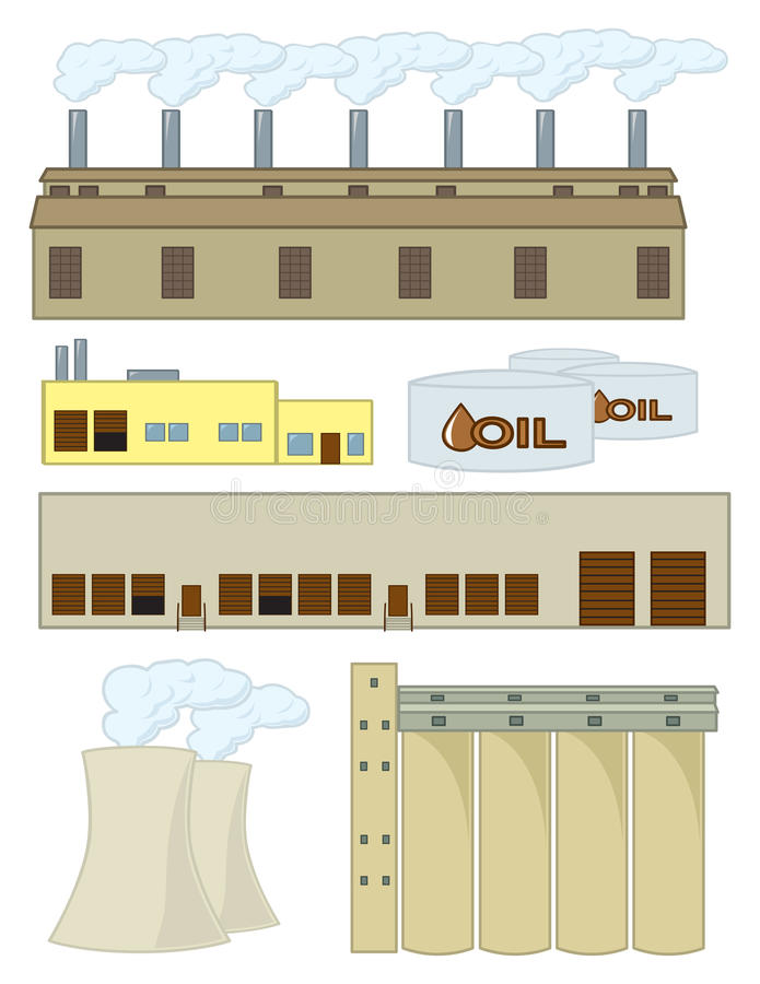 Download Various Industrial Structures Stock Vector - Image: 23751877