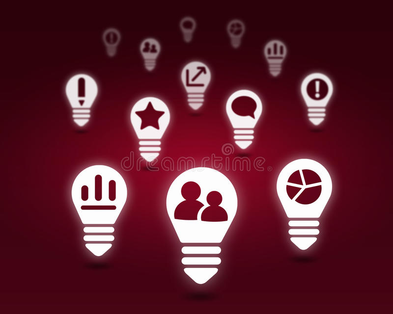 Various interface icons. Conceptual background image with many icons of applications royalty free stock image