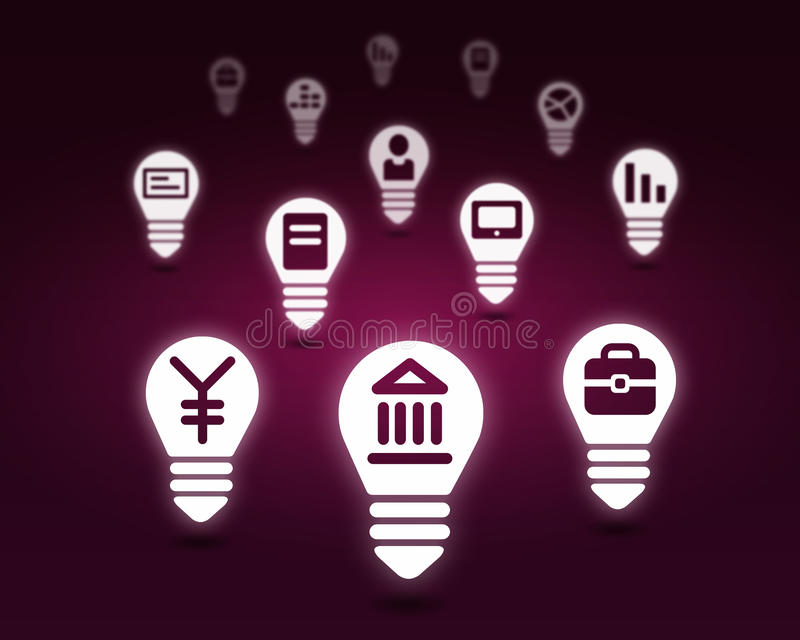 Various interface icons. Conceptual background image with many icons of applications stock photo