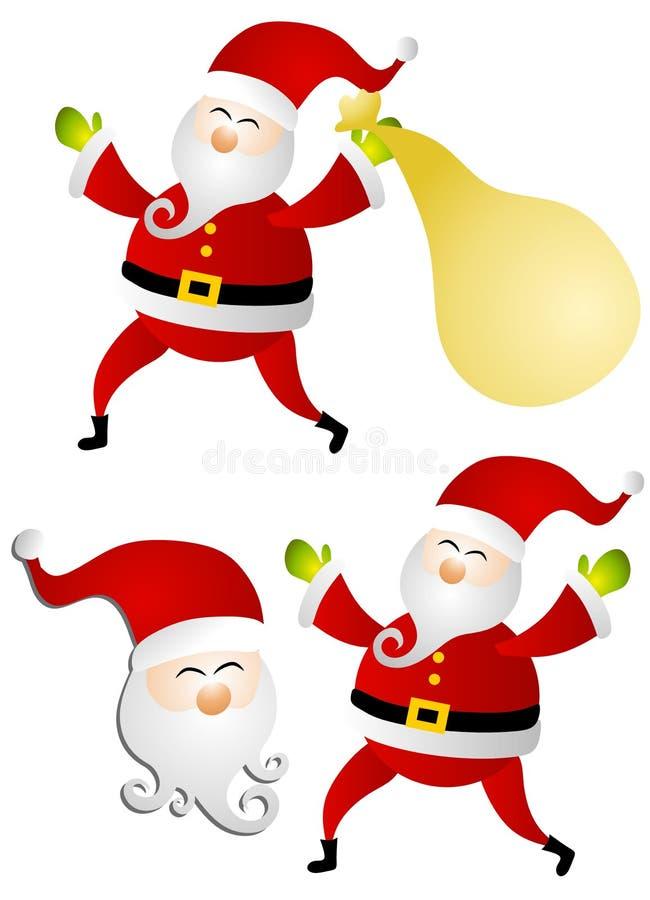 Various Isolated Santa Claus Clip Art stock photo