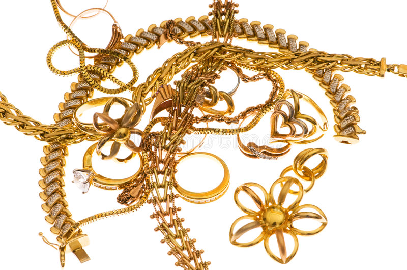 Various Jewellery Isolated Stock Image