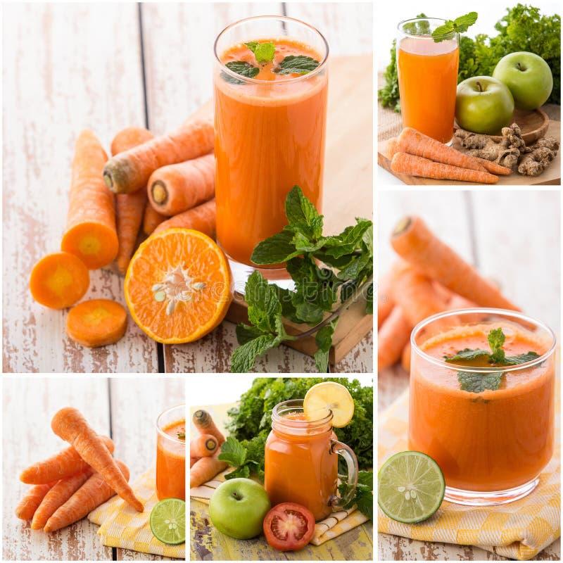 Various juices from mix tropical fruit stock photos