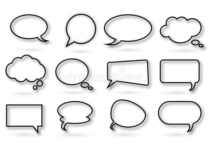 Download Various Kind Of Chat Bubble Royalty Free Stock Photography - Image: 23325437