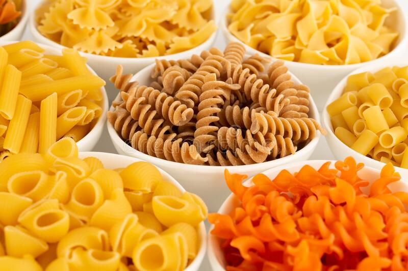 Various kind of pasta royalty free stock image