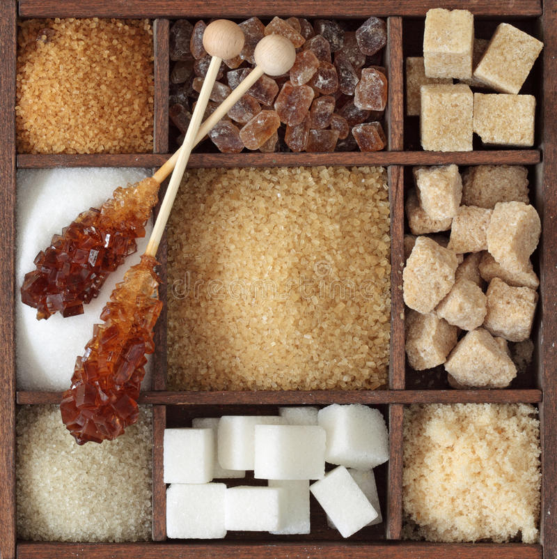 Download Various kinds of sugar stock image. Image of cubes, collection - 20397425