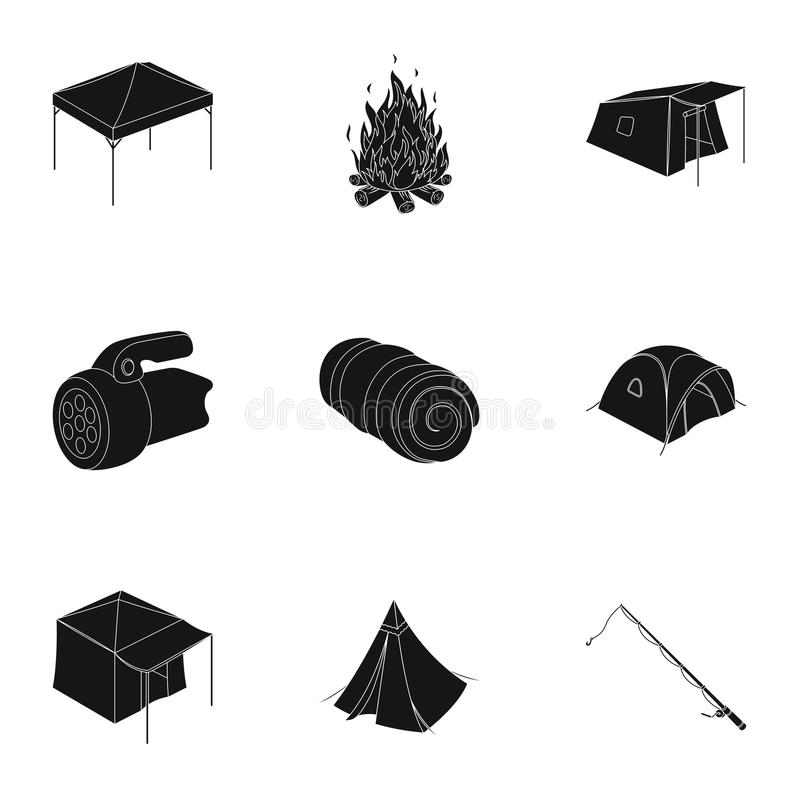 Download Various Kinds Of Tents And Other Tourist Accessories. The Tent Set Collection Icons In  sc 1 st  Dreamstime.com & Various Kinds Of Tents And Other Tourist Accessories. The Tent Set ...