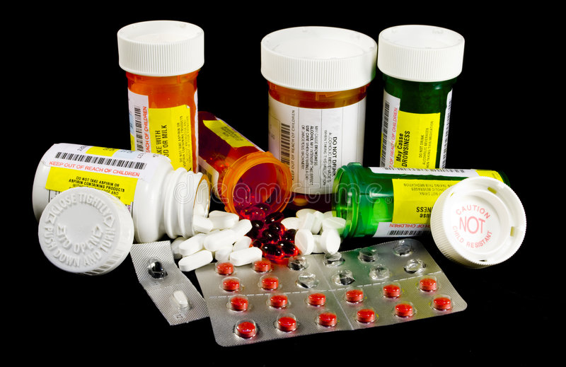 Various Medicines and Narcotics stock images