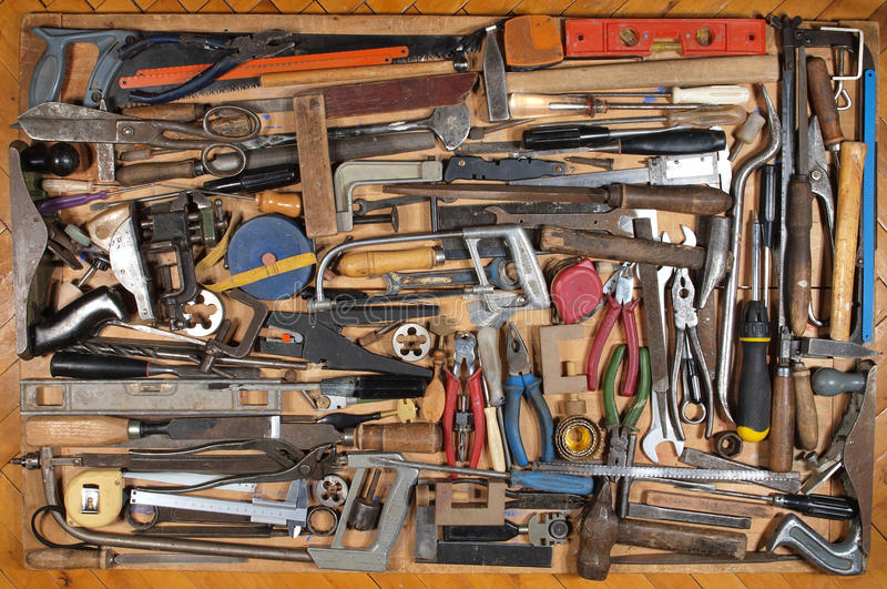 Download Various Metalwork And Carpentry Tools Stock Image - Image: 19461591