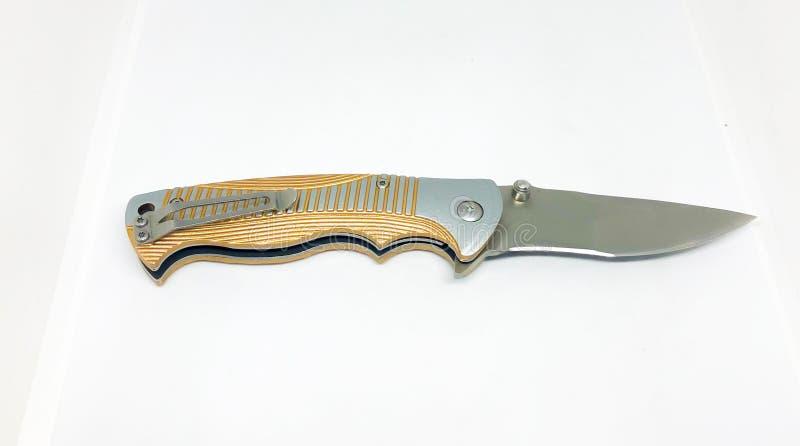 Various models pocket knife. Various models pocket knife, white background stock photos