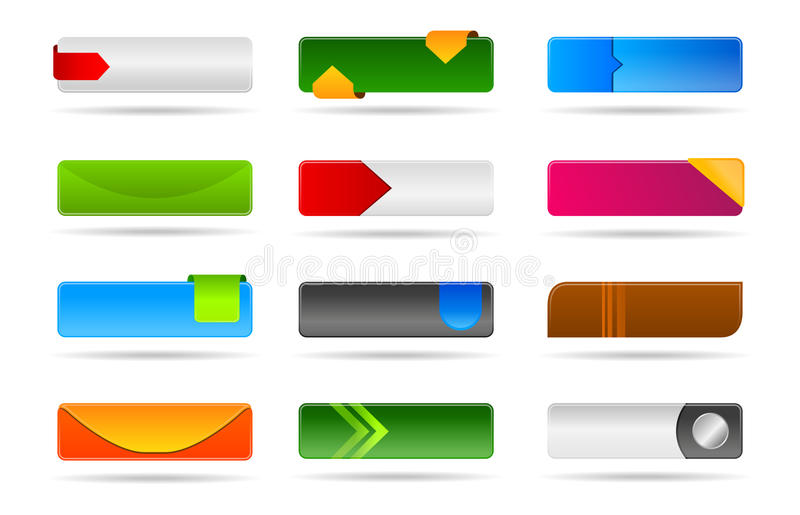 Download Various Modern Web Button Collection Stock Illustration - Image: 18089507