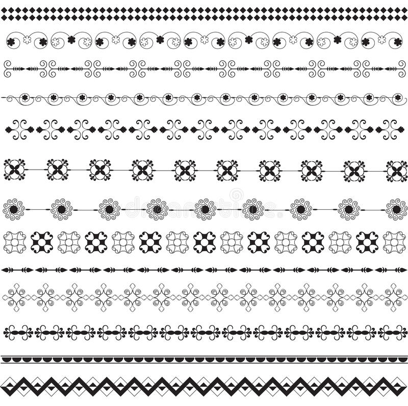 Download Various Motifs In Black And White Stock Vector - Image: 20588423