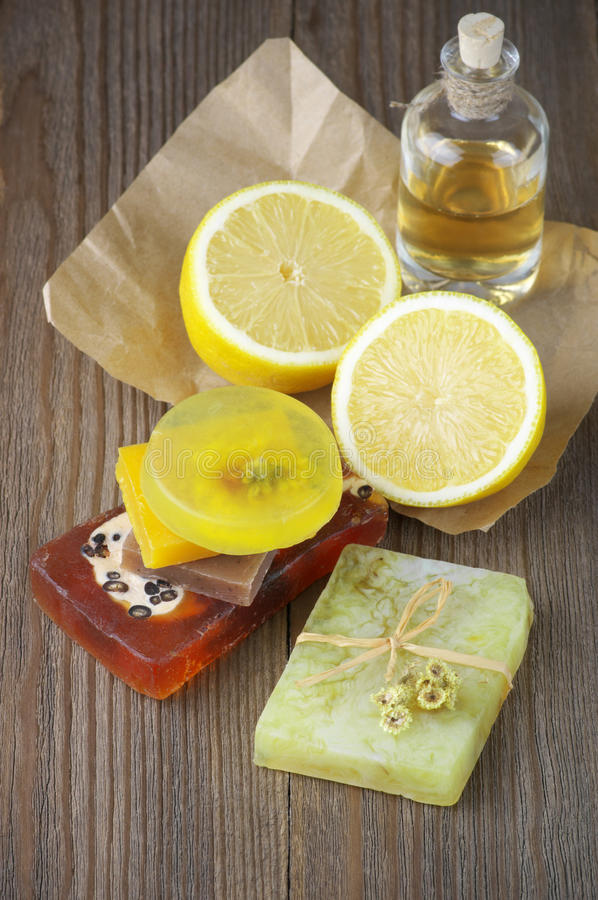 Free Various Natural Soaps Stock Photography - 55630102