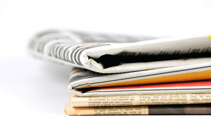 Various newspapers royalty free stock photography