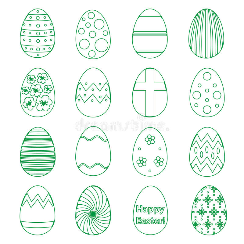 Various outline Easter eggs design collection eps10. Various outline Easter eggs design collection vector illustration