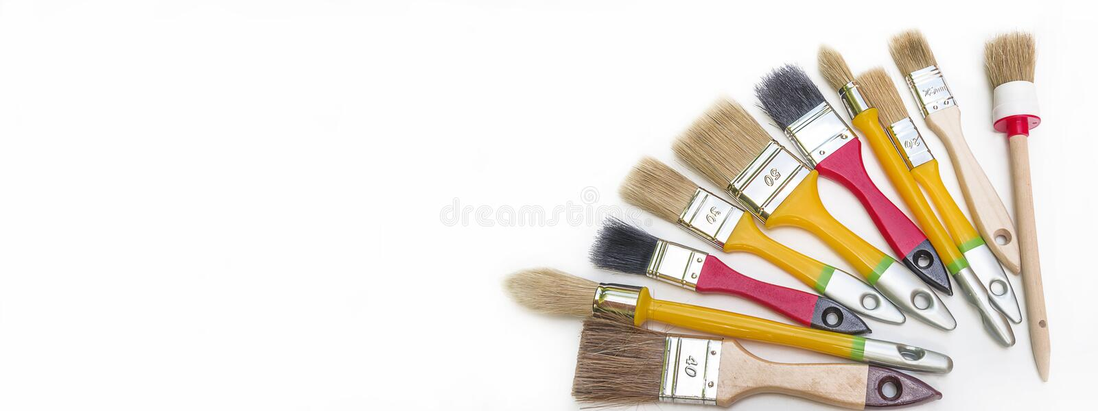 Various of paint brushes royalty free stock images