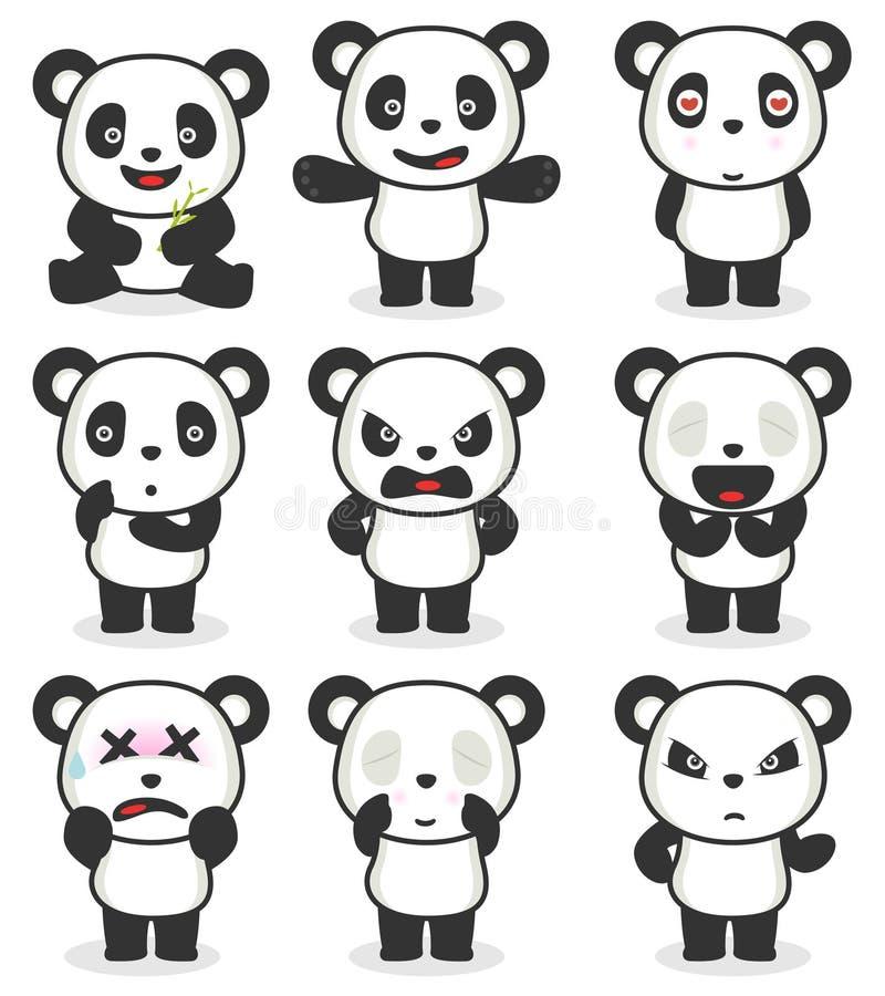 Download Various Panda Cartoon Character Royalty Free Stock Photo - Image: 22785955