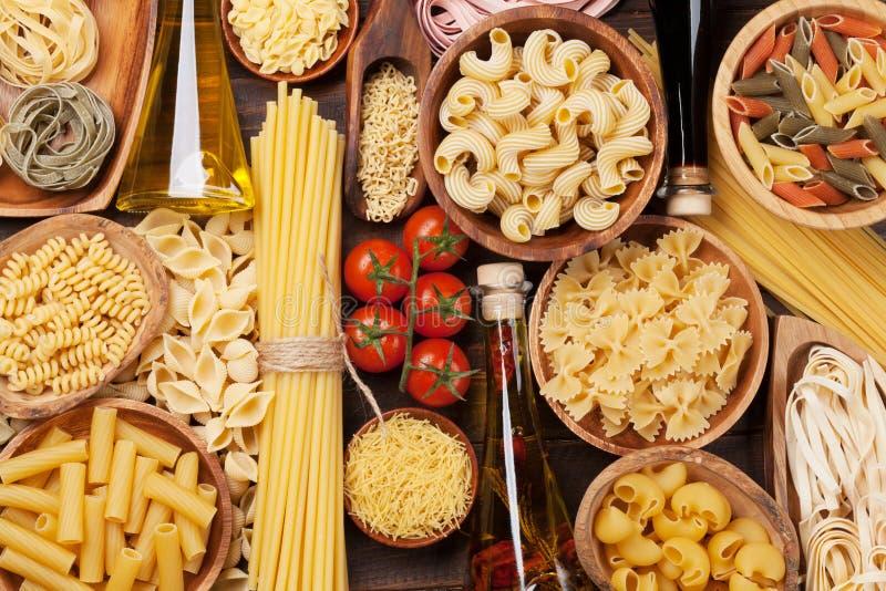 Various pasta royalty free stock photo