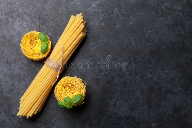 Various pasta royalty free stock images