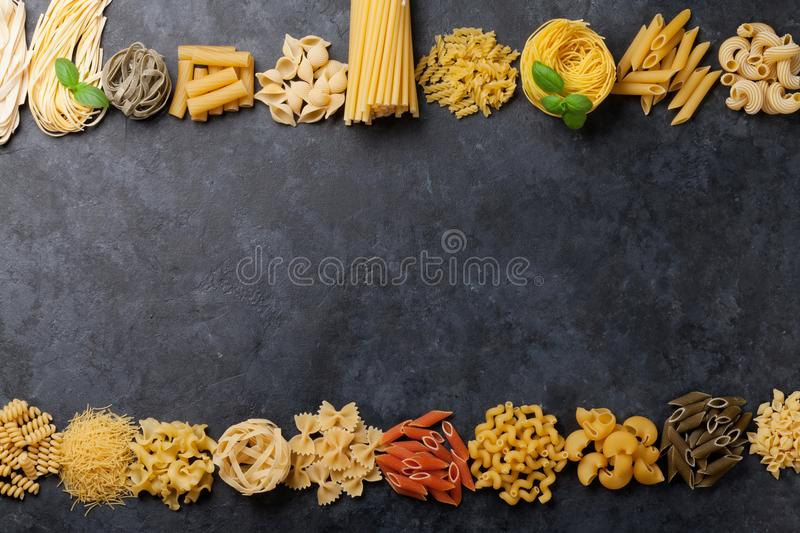 Various pasta stock photography