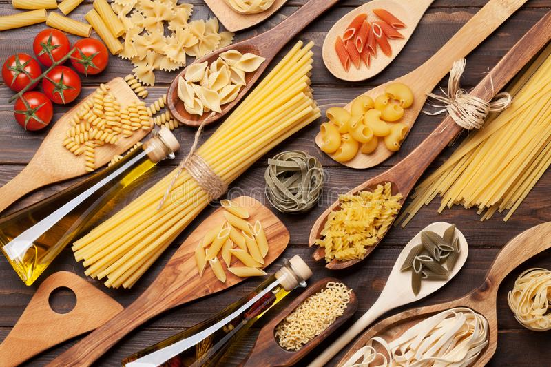 Various pasta royalty free stock image