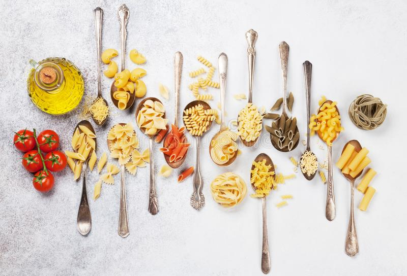 Various pasta stock image