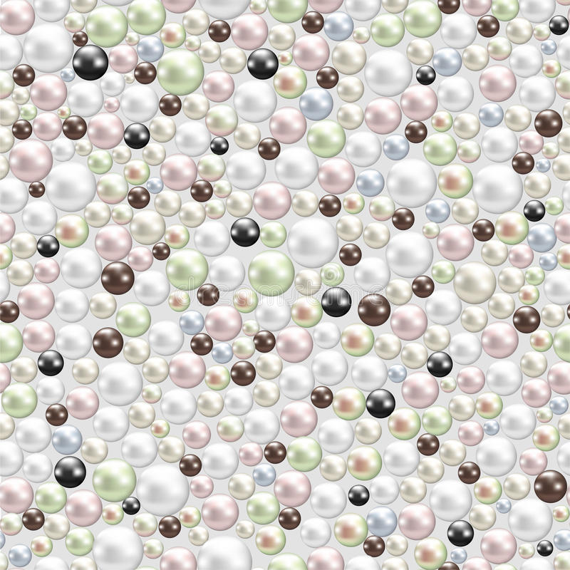 Various pearls background stock illustration