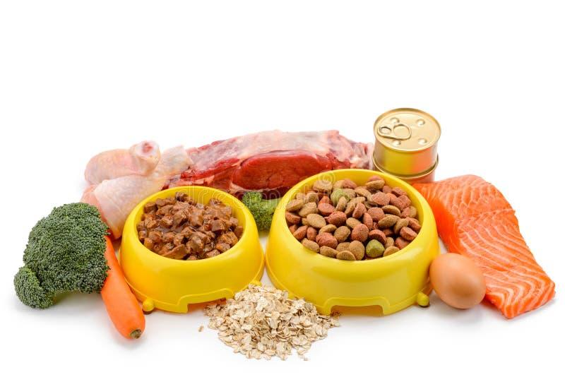 Various pet food stock images