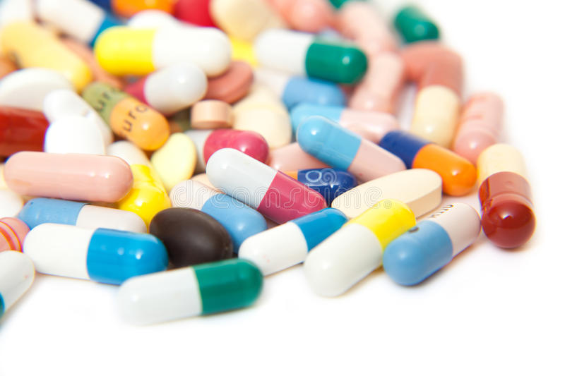 Download Various Pharmaceuticals On Dollar Notes Stock Photo - Image of white, treatment: 46709498