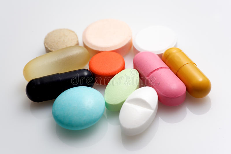 Various pharmaceuticals. stock images
