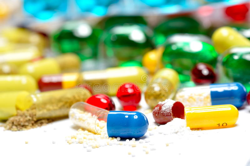 Various pills royalty free stock image