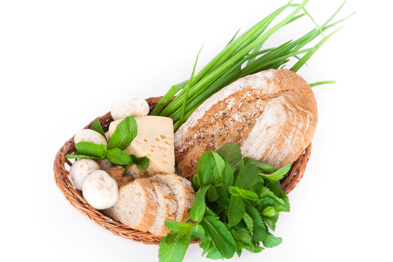 Download Various Products In A Basket Stock Image - Image: 20648773
