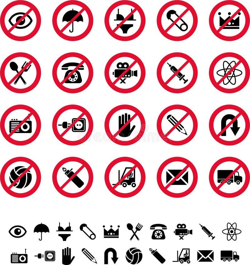 Prohibitory sign royalty free illustration