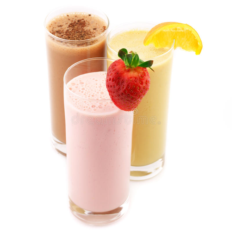 Various protein cocktails stock photography
