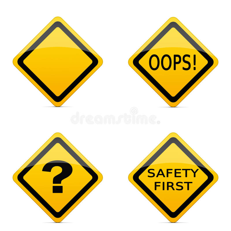 Various road sign icons royalty free illustration
