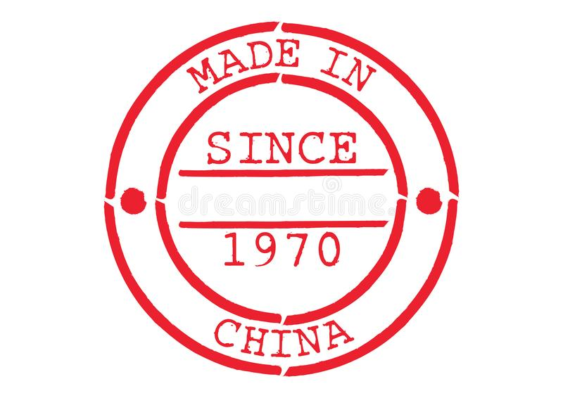 Various Rubber Stamp Made in China stock illustration