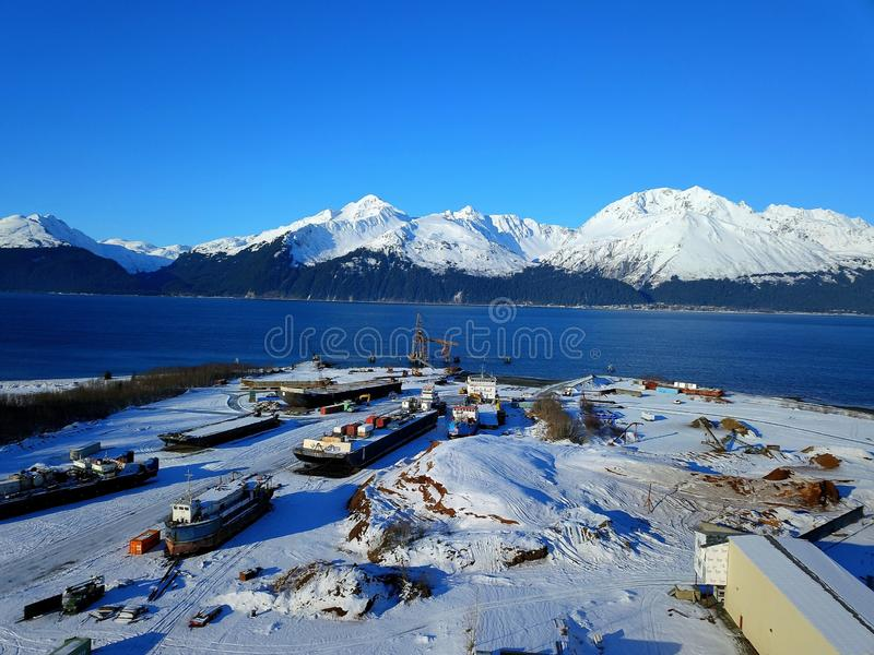 Maritime views of Alaska stock photography
