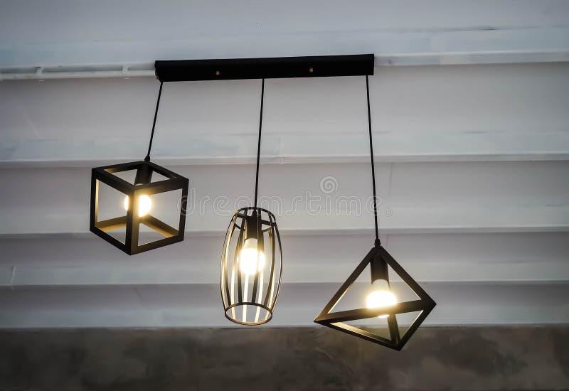 Various shape of lamps stock photos