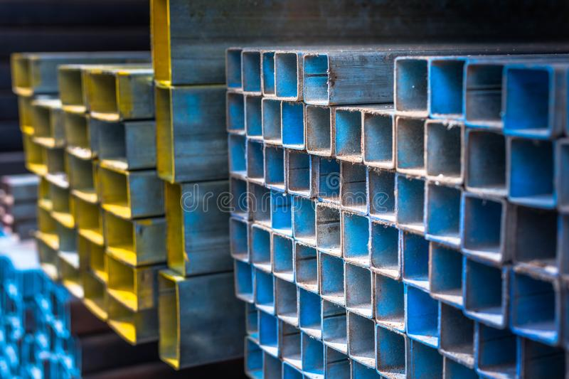 steel in construction materials store stock photo image of