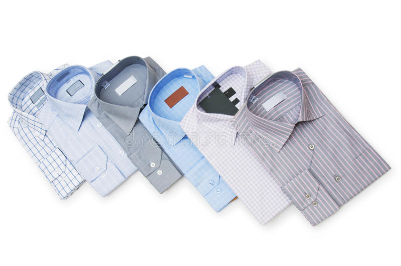 Various Shirts Isolated Stock Photo
