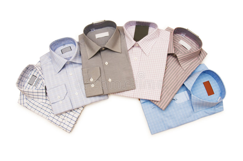 Various Shirts Isolated Stock Photos