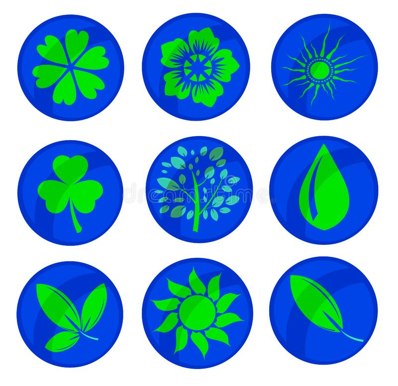 Download Various signs stock vector. Illustration of green, flower - 8448455