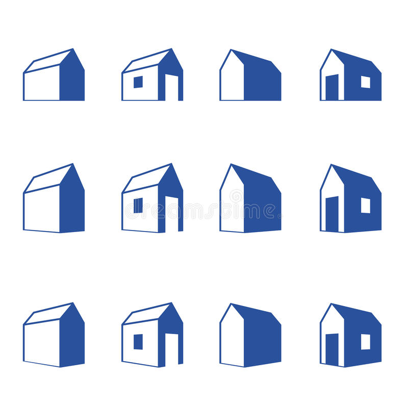 Download Various Signs Of Small Houses In Perspective Stock Vector - Illustration: 25331917