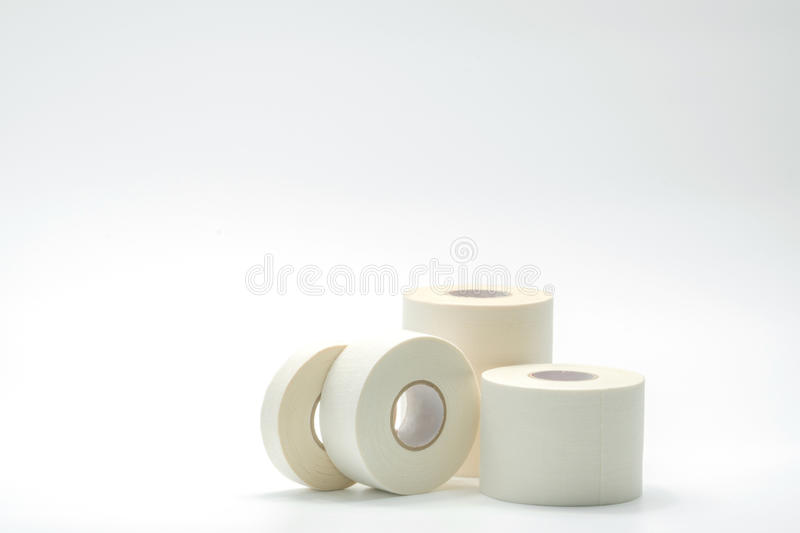 Various size of sport bandage tapes collection stock photo