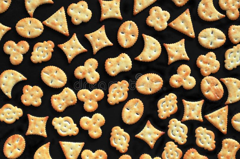 Various small crackers stock photo
