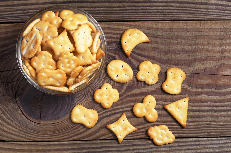 Various small crackers stock images