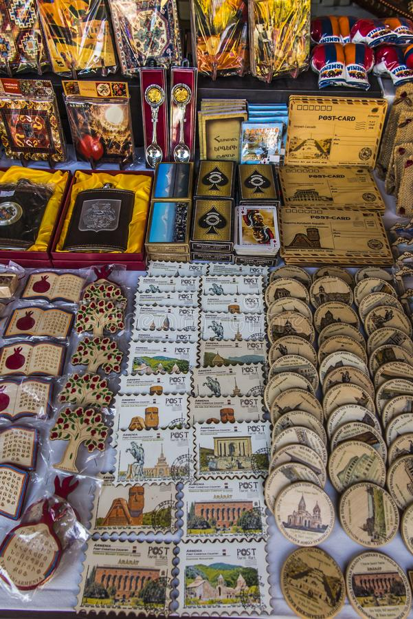 Souvenirs from Armenia with pomegranate motif royalty free stock images