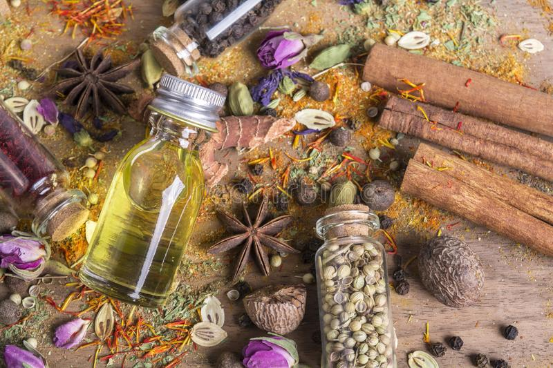 Various spices seeds stock photography