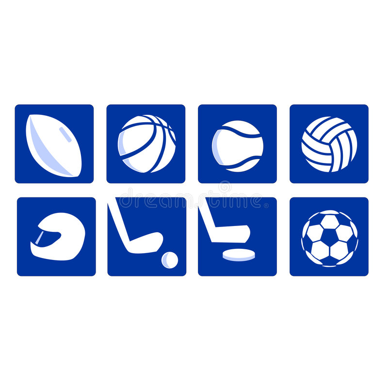 Various sport icons vectored royalty free stock photo