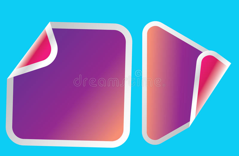 Various stickers stock photo